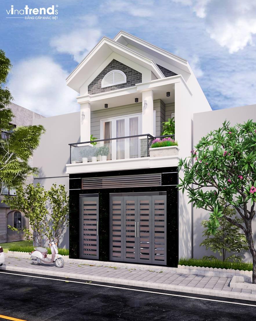 mau nha 2 tang mai thai dep nhat Mẫu thiết kế nhà 2 tầng mặt tiền 5mx15m mái ngói vừa an toàn vừa sang như biệt thự