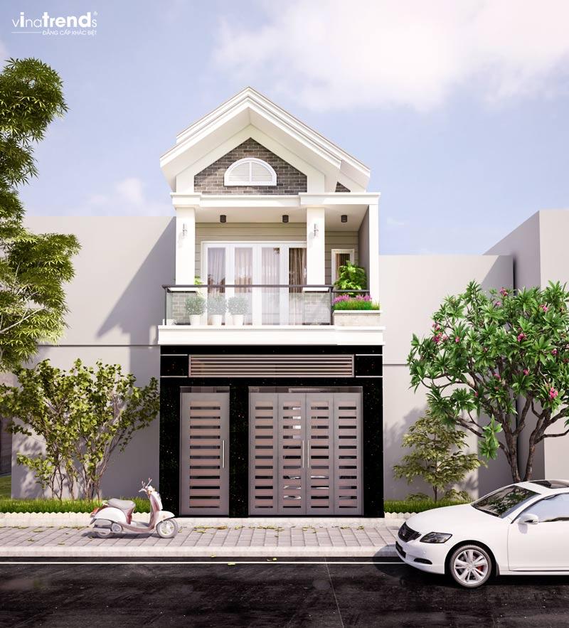 mau nha 2 tang mat tien 5m dep Mẫu thiết kế nhà 2 tầng mặt tiền 5mx15m mái ngói vừa an toàn vừa sang như biệt thự