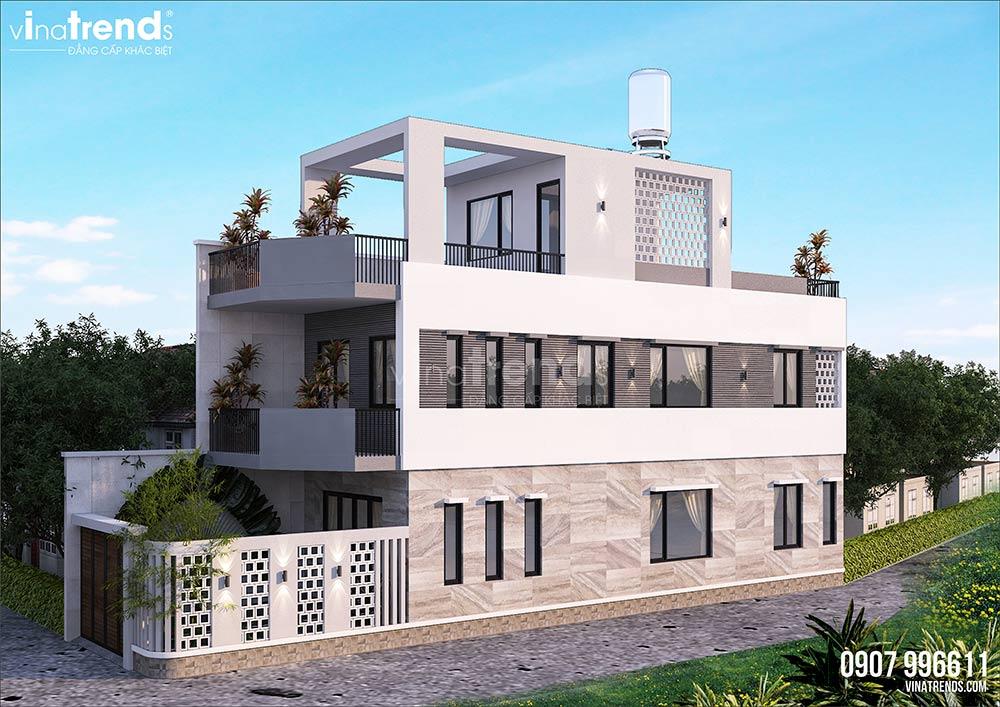 mau nha 3 tang hien dai mat tien 5m dep nhat 1 Mẫu thiết kế nhà đẹp 4,5x18m 3 tầng mới hiện đại ngập không gian xanh đẹp tuyệt ở Biên Hòa