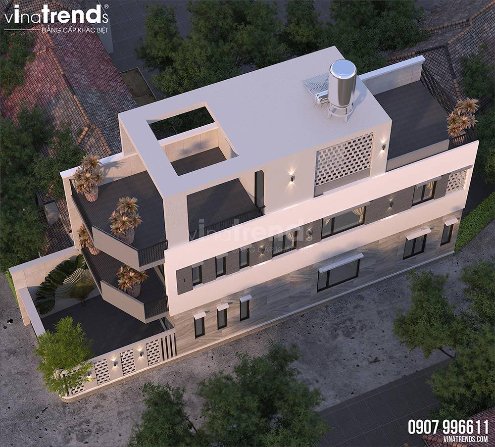 mau nha 3 tang hien dai mat tien 5m dep nhat 3 Mẫu thiết kế nhà đẹp 4,5x18m 3 tầng mới hiện đại ngập không gian xanh đẹp tuyệt ở Biên Hòa