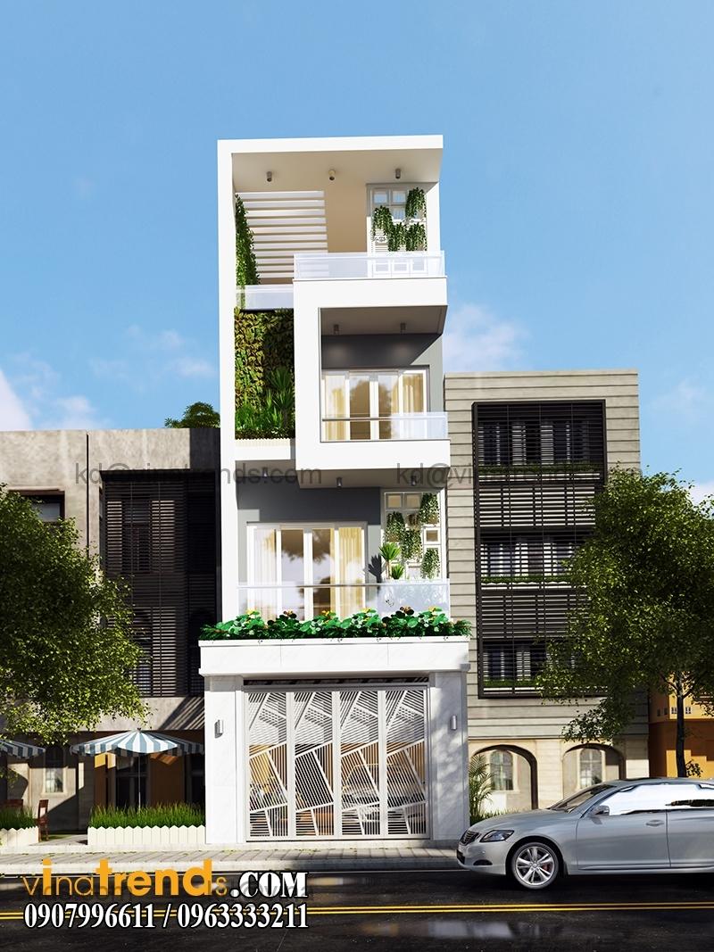 mau nha pho dep 4 tang 5x20m hien dai 2 Ngắm thiết kế nhà đẹp 4 tầng đơn sơ lộng gió suốt bốn mùa   ND130814A