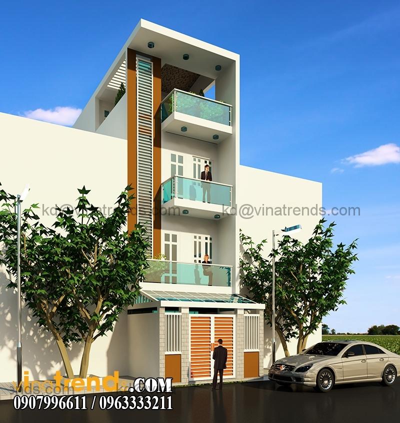 mau thiet ke nha dep 4 tang 72m2 dep thoang 1 1 Ngắm thiết kế nhà đẹp 4 tầng đơn sơ lộng gió suốt bốn mùa   ND130814A