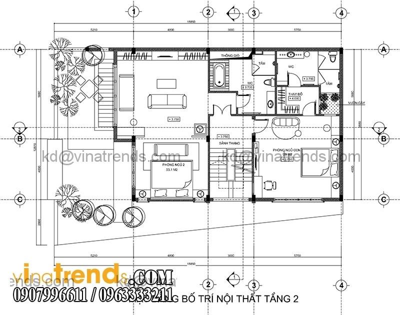 mb tang 2 biet thu pho 3 tang hien dai 134m2 Hấp dẫn mẫu thiết kế biệt thự hiện đại 134m2 mới lạ   BTHD250814A