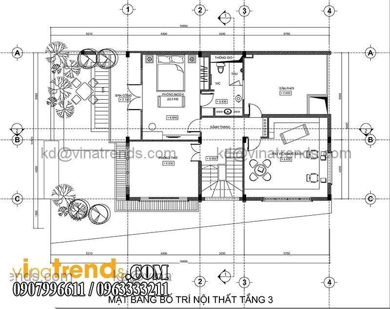 mb tang 3 biet thu pho 3 tang hien dai 134m2 Hấp dẫn mẫu thiết kế biệt thự hiện đại 134m2 mới lạ   BTHD250814A