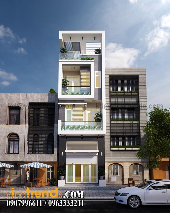 thiet ke nha pho 3 tang dep nhat Mẫu thiết kế nhà đẹp 4,5x18m 3 tầng mới hiện đại   ND260814A
