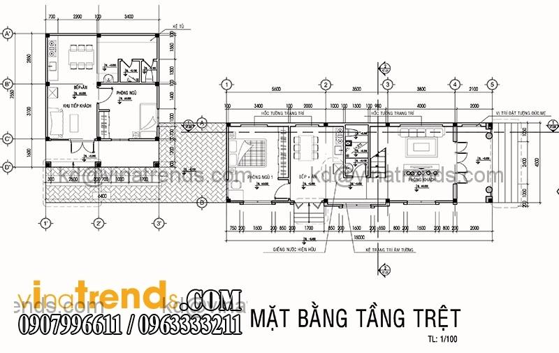 1 1 Thiết kế nhà phố đẹp 10x18m 1 trệt 1 lầu phong cách hiện đại   NP160914A
