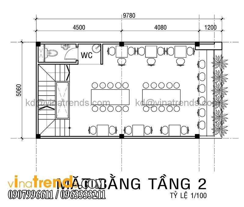 ban ve mat bang mau thiet ke nha pho 4 tang co san thuong 5x10m dep 4 Xinh xắn mẫu thiết kế nhà phố 4 tầng 5x10m sân thượng hiện đại   NP130914A