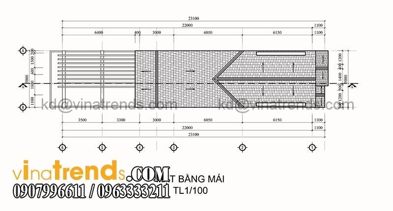 ban ve thiet ke nha pho 3 tang hien dai dien tich 695m2 1 Thiết kế nhà phố 3 tầng đẹp 5x13,9m phong cách hiện đại   NP260914A