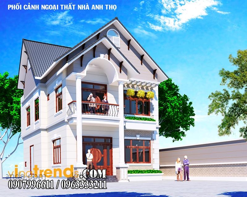 biet thu 2 tang 140m2 3 Những mẫu nhà đẹp nhất ở Việt Nam xu hướng mới   BST171215A