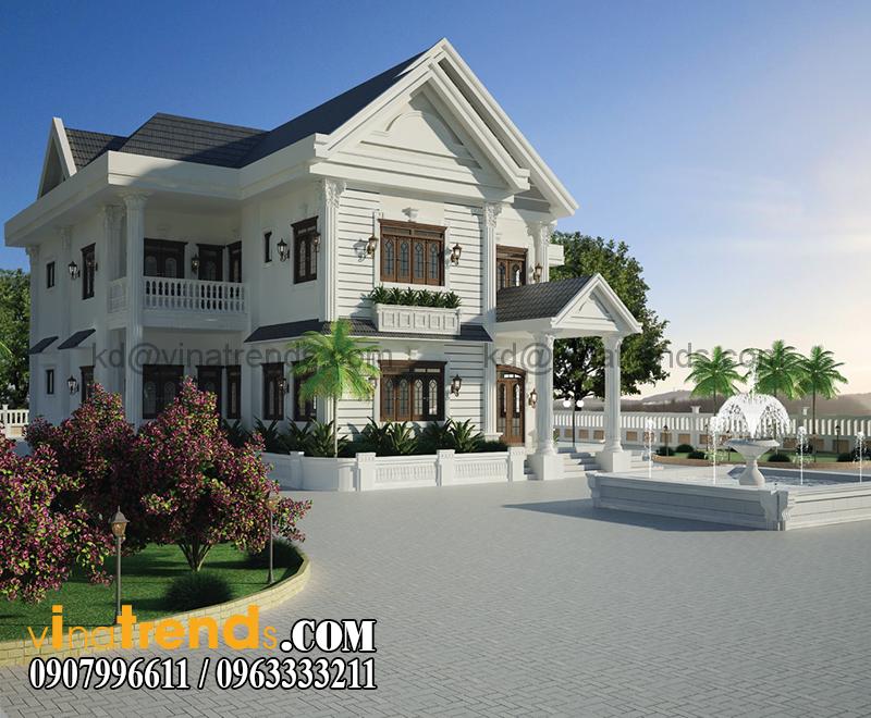 biet thu vuon 2 tang dep Thiết kế biệt thự nhà vườn đẹp mới nhất   BTV110714B