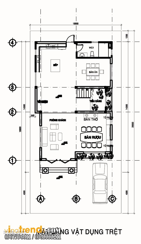 mat bang biet thu 2 tang 140m2 (2)