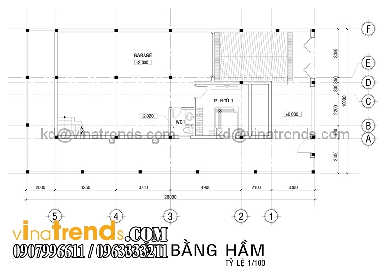 mat bang biet thu 3 tang 1 Độc đáo mẫu thiết kế biệt thự 200m2 3 tầng mới đang sốt sình sịch   BT100914A