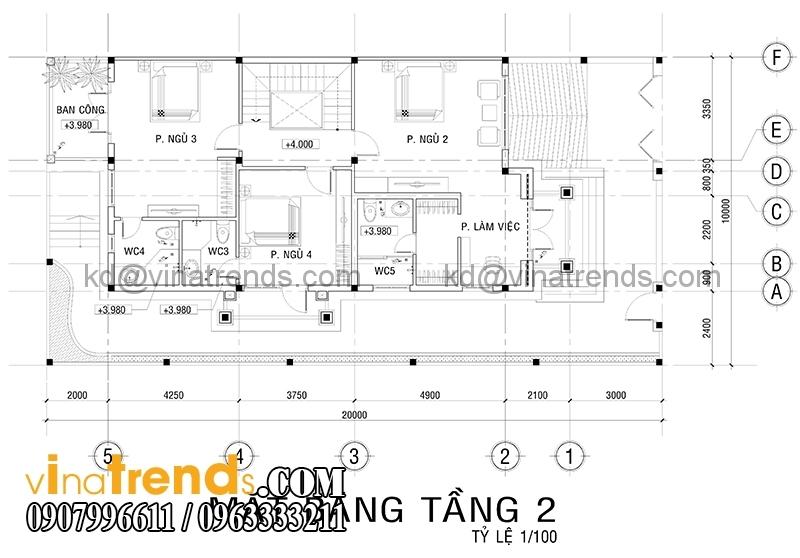 mat bang biet thu 3 tang 3 Độc đáo mẫu thiết kế biệt thự 200m2 3 tầng mới đang sốt sình sịch   BT100914A
