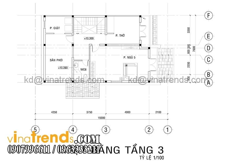 mat bang biet thu 3 tang 4 Độc đáo mẫu thiết kế biệt thự 200m2 3 tầng mới đang sốt sình sịch   BT100914A