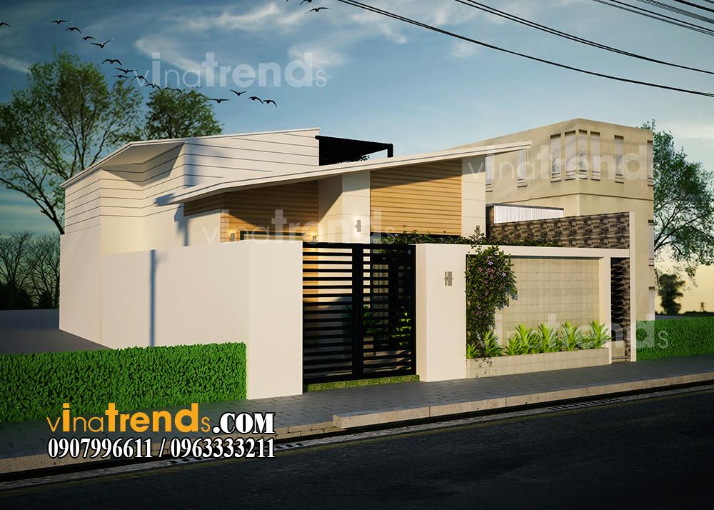 mau biet thu 1 tret 1 lau mat tien 10m ngang 20m 1 Hơn 30 mẫu thiết kế nhà đẹp ở Biên Hòa được Vinatrends chinh phục chủ đầu tư nhờ yếu tố gì?