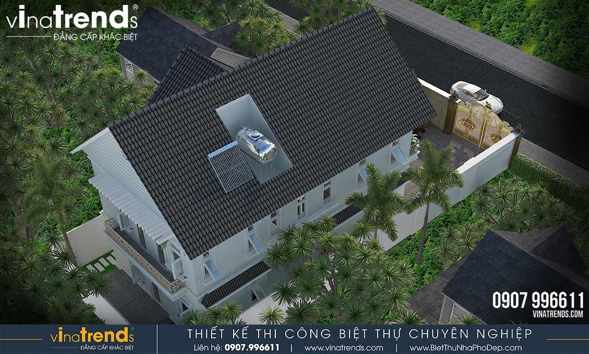 mau nha 2 tang mai thai kieu nong thon dep nhat co san vuon 85x15m 3 Mẫu nhà biệt thự 2 tầng mái thái 8,5x15m có khu sân vườn mini đẹp mê mệt ở Vũng Tàu