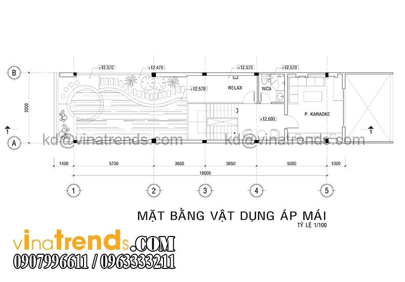 mb 1 1 Thiết kế nhà ống đẹp 4 tầng 5x18m  có hồ bơi trên sân thượng   NO180914A