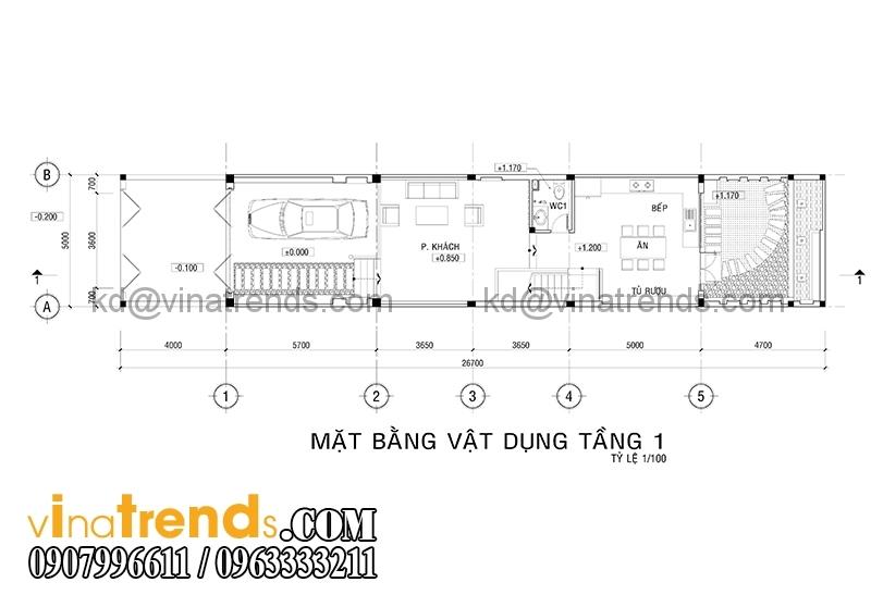 mb 2 Thiết kế nhà ống đẹp 4 tầng 5x18m  có hồ bơi trên sân thượng   NO180914A