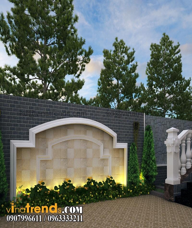 thiet san vuon biet thu co dien dep 1 Lung linh sắc vườn biệt thự mini 150m2 ấn tượng   BTMN270814A