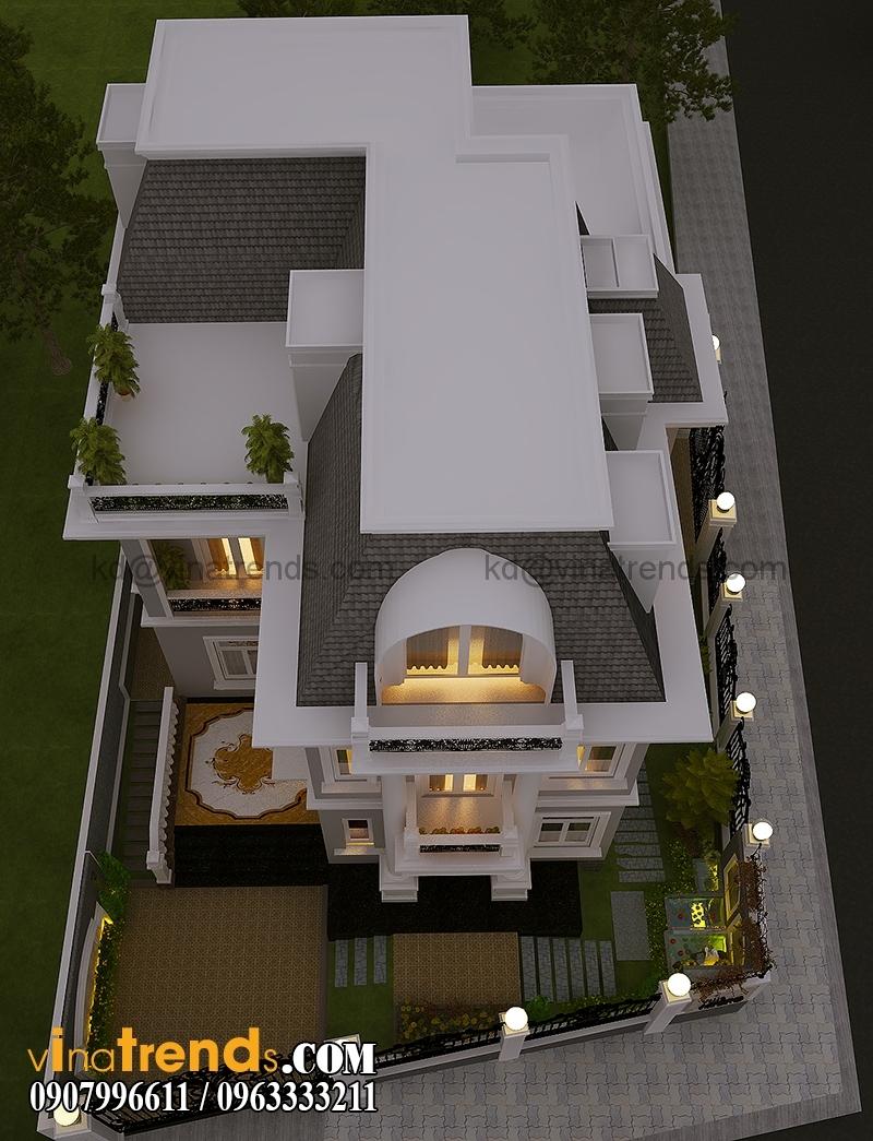 thiet san vuon biet thu co dien dep 4 Mẫu thiết kế biệt thự tân cổ điển 3 tầng đẹp Quận 1   BT200714A