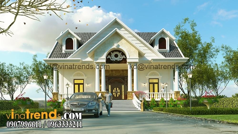 biet thu mini san vuon dep 3 Thiết kế biệt thự nhà vườn đẹp mới nhất   BTV110714B