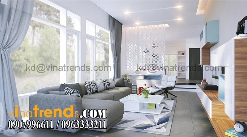 197 khach1 Mẫu thiết kế biệt thự 3 tầng hiện đại 8x17m đẹp không gian lý tưởng cho gia đình bạn   BT180715A