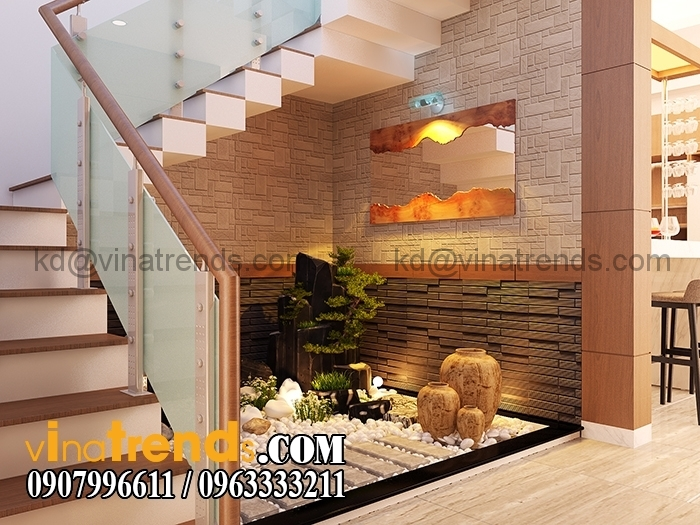 1tieu canh kho 1 1 Mẫu thiết kế biệt thự mini đẹp 3 tầng có sân vườn lãng mạn   BT220714A