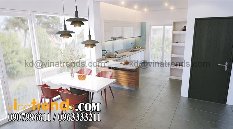 200 bep3 Mẫu thiết kế biệt thự 3 tầng hiện đại 8x17m đẹp không gian lý tưởng cho gia đình bạn   BT180715A