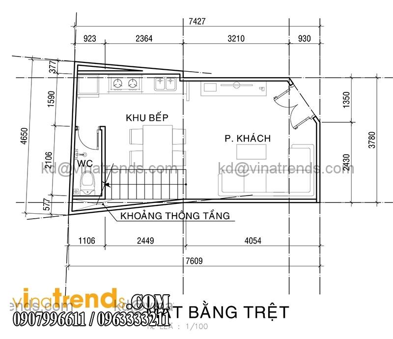 KT PA1 NHA ANH KHUONG 2015 05 20 1 Mẫu thiết kế nhà phố hiện đại 4 tầng 3,8x7,6m đẹp trên từng centimet   NP070715B