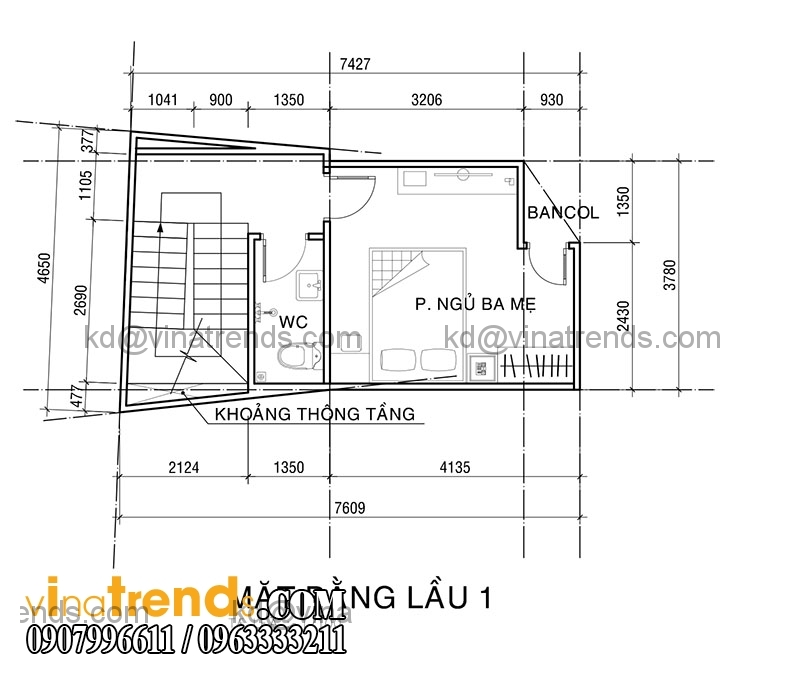 KT PA1 NHA ANH KHUONG 2015 05 20 2 Mẫu thiết kế nhà phố hiện đại 4 tầng 3,8x7,6m đẹp trên từng centimet   NP070715B