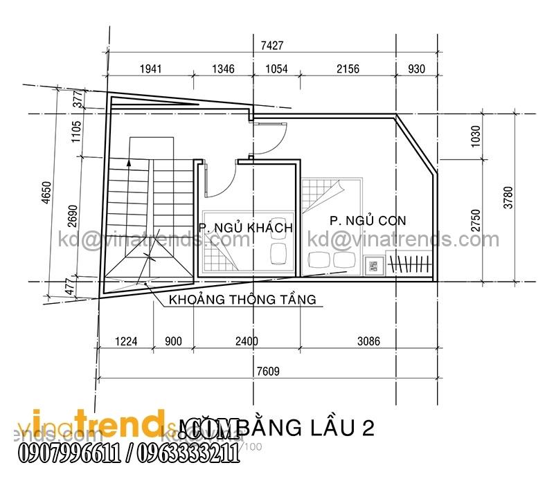KT PA1 NHA ANH KHUONG 2015 05 20 3 Mẫu thiết kế nhà phố hiện đại 4 tầng 3,8x7,6m đẹp trên từng centimet   NP070715B