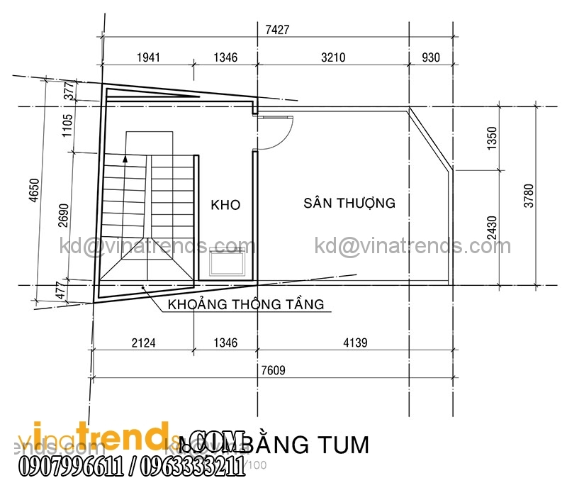 KT PA1 NHA ANH KHUONG 2015 05 20 4 Mẫu thiết kế nhà phố hiện đại 4 tầng 3,8x7,6m đẹp trên từng centimet   NP070715B