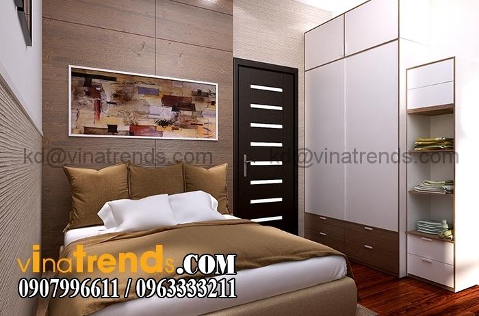 Phong ngu 1 1 Thiết kế biệt thự 3 tầng 10x20m đẹp phong cách châu âu   BT290715A