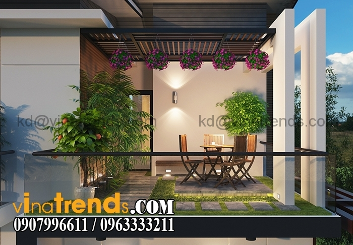 SAN VUON 2 Thiết kế biệt thự 3 tầng 10x20m đẹp phong cách châu âu   BT290715A