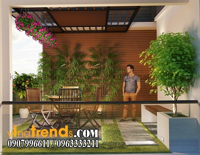 SAN VUON 3 Biệt thự mini 3 tầng đẹp hoa phải ghen liễu cũng hờn   BTMN101014A