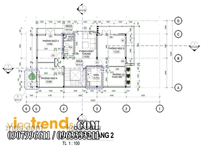 ban thiet ke biet thu pho 2 tang dep 1 Mẫu thiết kế biệt thự 3 tầng đẹp 200m2 ấn tượng khó phai   BT010815A