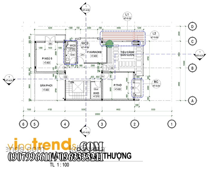 ban thiet ke biet thu pho 2 tang dep 2 Mẫu thiết kế biệt thự 3 tầng đẹp 200m2 ấn tượng khó phai   BT010815A