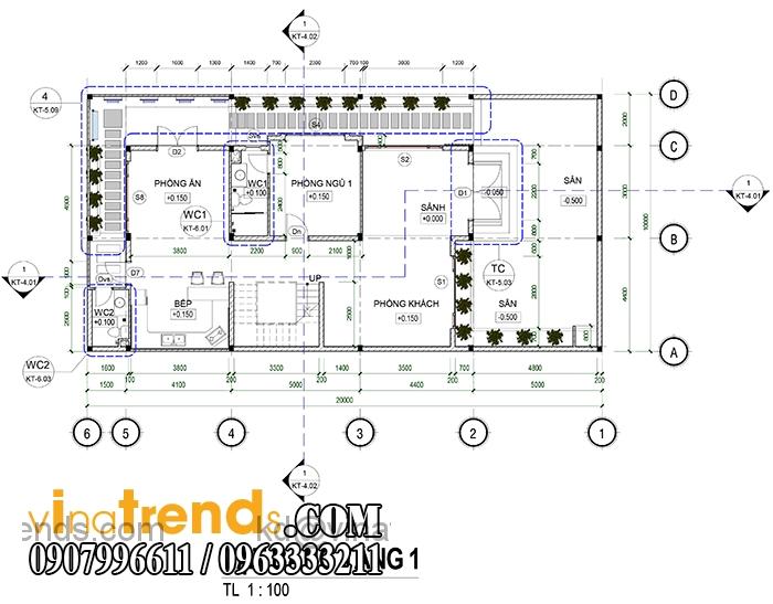 ban thiet ke biet thu pho 2 tang dep Mẫu thiết kế biệt thự 3 tầng đẹp 200m2 ấn tượng khó phai   BT010815A