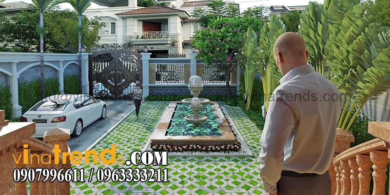 biet thu 3 tang tan co dien co san vuon dep 1 Mẫu kiến trúc nhà đẹp xu hướng 3   5 năm tới