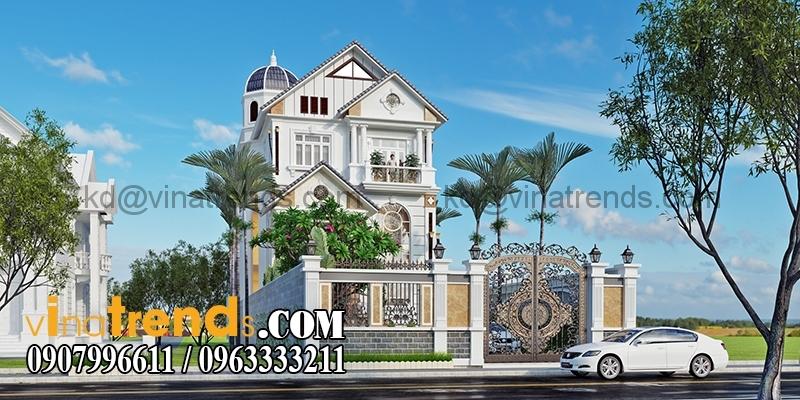 biet thu 3 tang tan co dien co san vuon dep 8 Thiết kế biệt thự sân vườn 3 tầng 9x18m đẹp lung linh đến khó cưỡng   BTV210715A