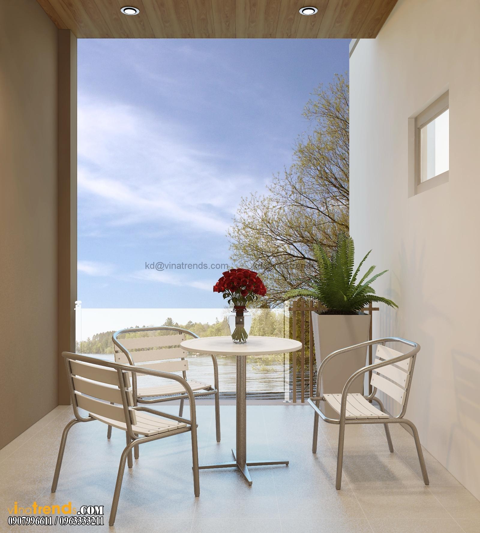 biet thu pho 2 tang 135m2 11 Mẫu thiết kế biệt thự 3 tầng hiện đại 8x17m đẹp không gian lý tưởng cho gia đình bạn   BT180715A