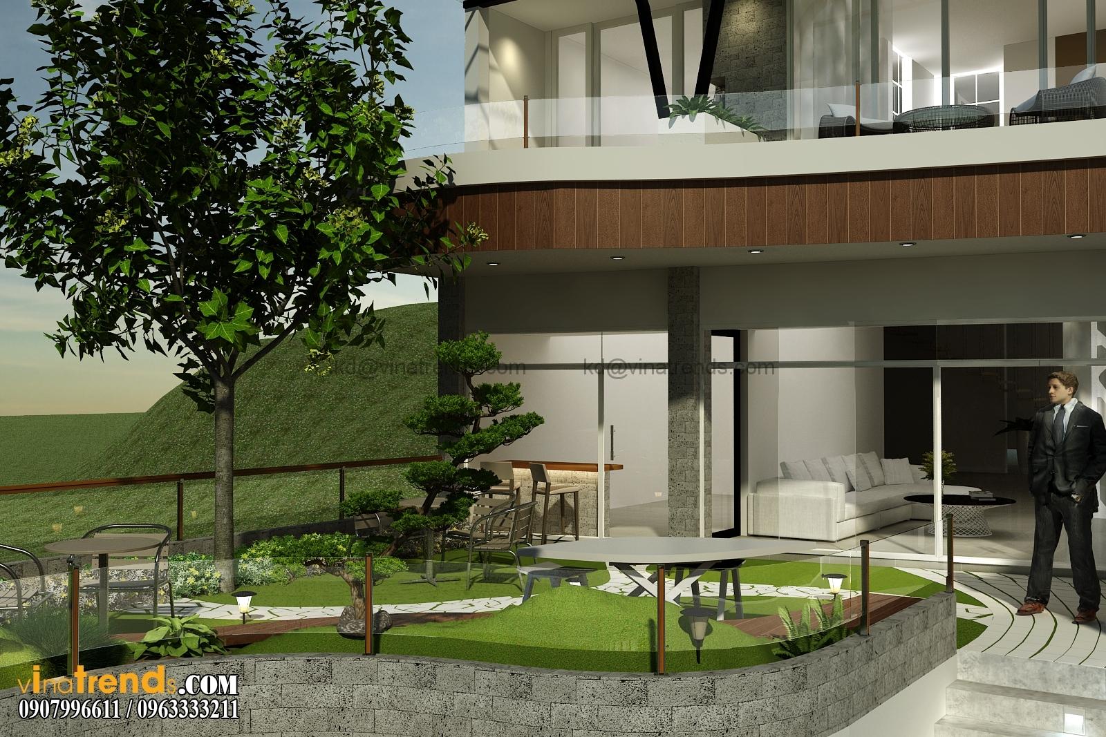 biet thu pho 2 tang 135m2 3 Đẹp với thiết kế biệt thự hiện đại 2.5 tầng anh Thiện TPHCM   BT190714A