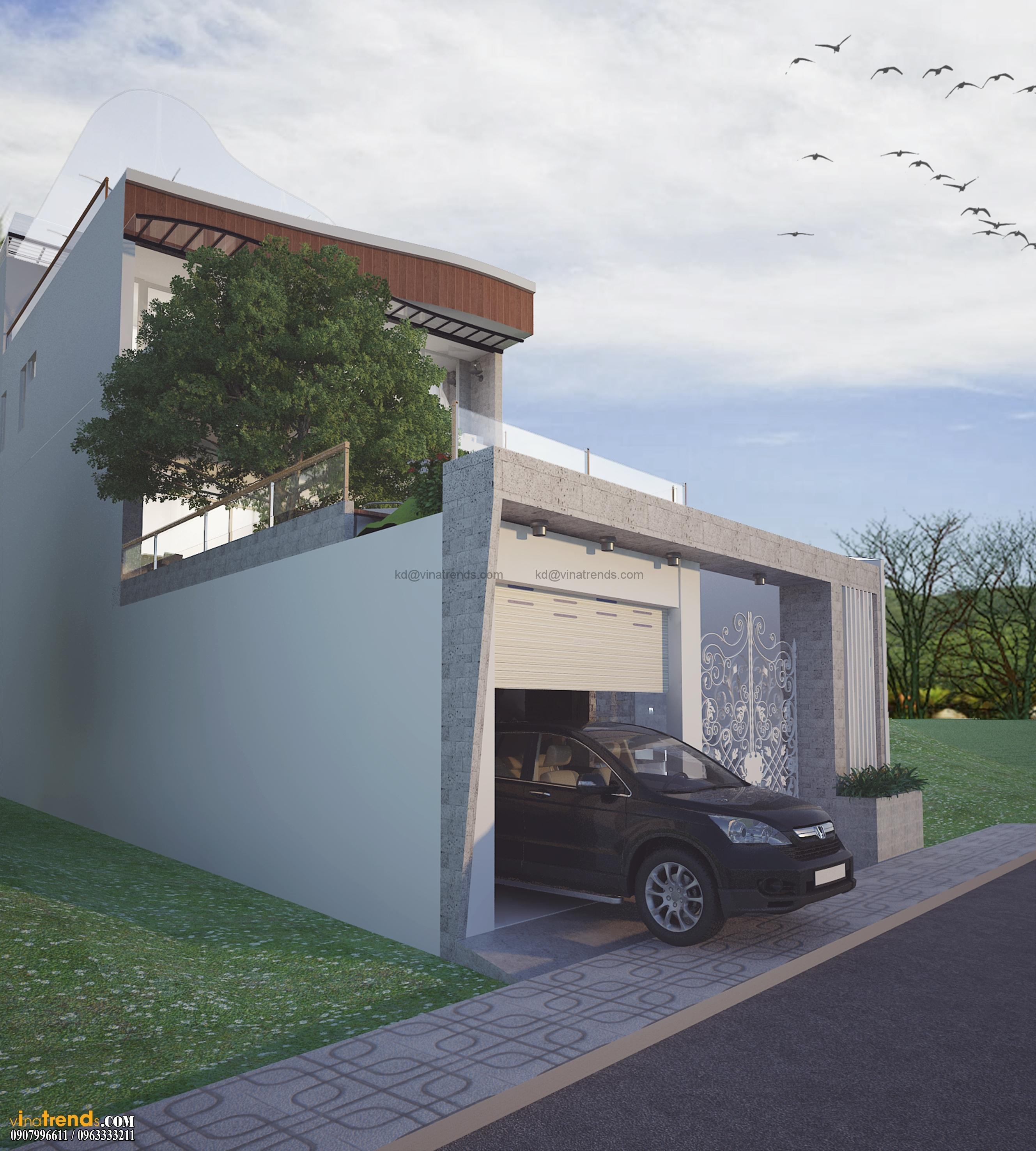 biet thu pho 2 tang 135m2 6 Mẫu thiết kế biệt thự 3 tầng hiện đại 8x17m đẹp không gian lý tưởng cho gia đình bạn   BT180715A