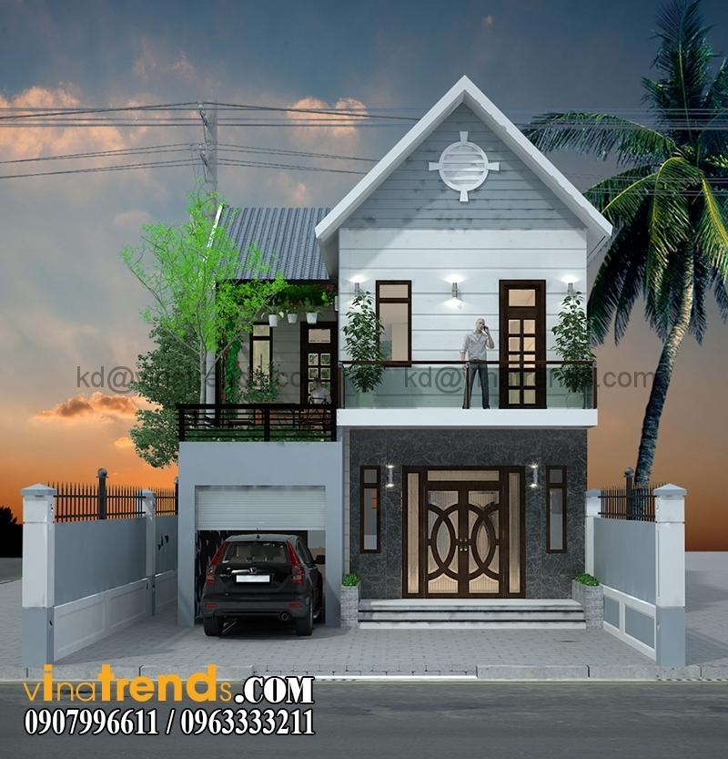 biet thu pho 2 tang 98m 2 Mẫu thiết kế biệt thự hiện đại 2 tầng 7,7x12,7m đẹp đẳng cấp là mãi mãi   BT070715A