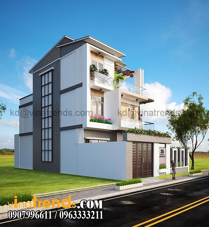 biet thu pho dep 10x12m 2 tang Mẫu thiết kế biệt thự 3 tầng đẹp 200m2 ấn tượng khó phai   BT010815A