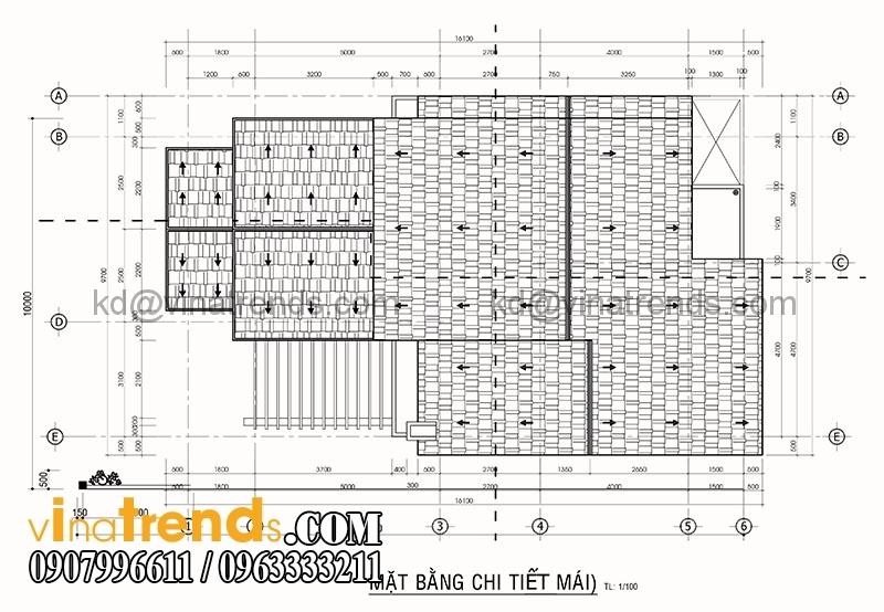 mat bang biet thu 2 tang 10x15 1 Mẫu thiết kế biệt thự 2 tầng kiểu Pháp với tổng diện tích xây dựng 200m2 mang xu hướng mới 2017   BT240715A