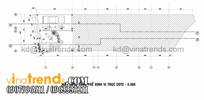 mat bang biet thu pho 3 tang 135m2 2 Mẫu thiết kế biệt thự 3 tầng hiện đại 8x17m đẹp không gian lý tưởng cho gia đình bạn   BT180715A