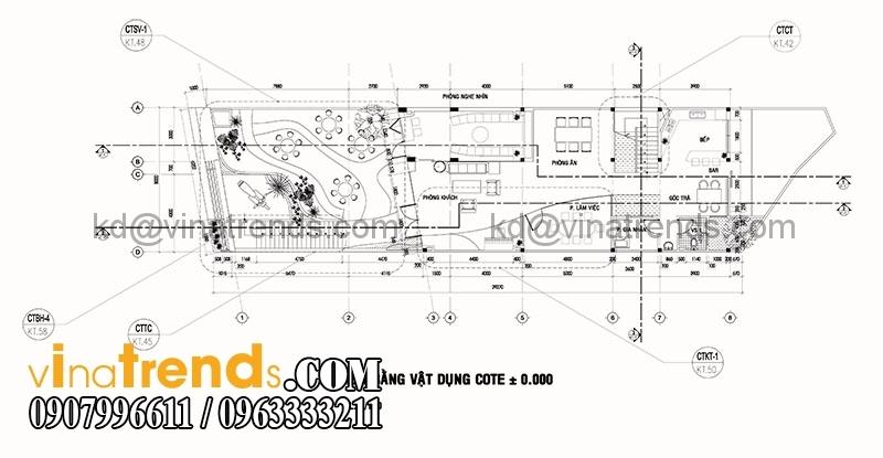 mat bang biet thu pho 3 tang 135m2 3 Mẫu thiết kế biệt thự 3 tầng hiện đại 8x17m đẹp không gian lý tưởng cho gia đình bạn   BT180715A