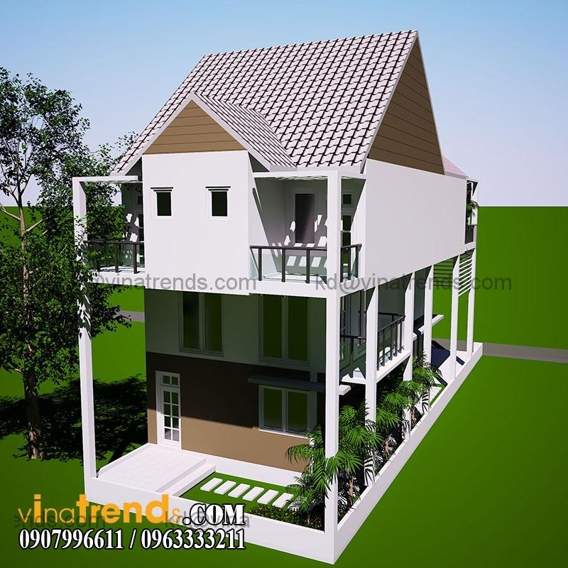 mau nha pho hien dai dien tich 65x145m 4 Mẫu thiết kế nhà phố hiện đại mặt tiền 6,5m đẹp mát mắt người xem   NP140715B
