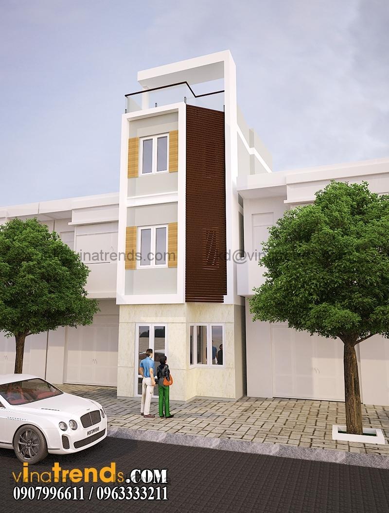 mau thiet ke nha pho 4 tang hien dai mat tian dep 2 Mẫu thiết kế nhà phố hiện đại 4 tầng 3,8x7,6m đẹp trên từng centimet   NP070715B